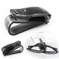 Wholesale Best Selling Black Car Glasses Holder Auto Vehicle Visor Sunglass Eyeglasses Business Bank Card Ticket Holder Clip A1