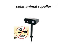 Cheap Hot Selling Frequency:25--40KHz solar powered ultrasonic animal repeller repellent birds dogs cats deer rat mice monkey mole Free Shiping