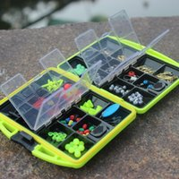 Wholesale Fishing gear accessories cartridge box set thick ABS wear non slip hook fishing box fluorescent green