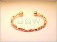 Wholesale ROSE GOLD PLATED Alloy Magnetic power Copper Bracelet Bangle B21R