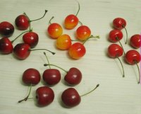artificial fruit - Artificial Lifelike Mini Black Red Yellow Cherry Fake Fruit Model Party Home Decor Teaching Props Child Education Fruits DIY Accessories