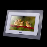 cheap 7 hd tft lcd digital photo frame with slideshow transparent picture frame alarm