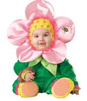 beautiful bee - Halloween jumpsuit months the beautiful flowers bee cartoon Romper jumpsuit Neonatal Set Romper hat gloves B115