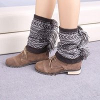 ballet christmas stocking - Winter Polaina Christmas Tassel Knitted Leg Warmers Ballet Dance Warm up knitted booty Gaiters Leg Warmers Stocking Socks B165