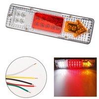 trailer lights - 2015 New V Car LED Truck Trailer Caravan Van Rear Tail Stop Reverse Indicator Light Lamp For Waring Fog Lighting