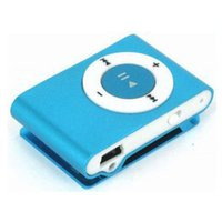 Wholesale Clip Mp3 player with Card Slot Mini Mp3 Music Player with USB Cable and Earphone E001