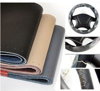 Wholesale pc New Car Steering Wheel Hand sew Cover With Needles and Thread Fit DIY colors