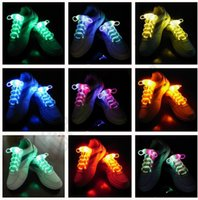 Cheap 100PCS HHA470 LED Flashing shoe laces Fiber Optic Shoelace Luminous Shoe Laces Light Up Shoes lace