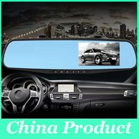 Wholesale Car camera rearview mirror auto dvrs car dvr dual lens dash cam recorder video registrator camcorder full hd1080p night vision