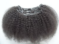 afro extension hair styles - the boom style afro kinky curl hair weft brazilian soft curly clip in extensions bundles full head unprocesswd natural black colr