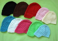 hand knit baby sweater - Baby Crochet Hat Babies Baret Children Knits Boys Girls Hollow Hand made Caps Muti color Princess Girl Cap Infant Solid Sweater Hats I3191