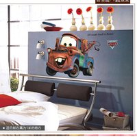 Wholesale 2015 Good Quality New Extra Large Vinyl Pixar CAR Wall Stickers Kids Nursery Boys Room Art Decal Decor Sticker