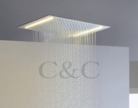 alternating current led - New Arrival V V Alternating Current Yellow Lamps Rainfall Bathroom LED Rainfall Shower Head L X36E
