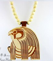 goodwood - 10PCS Good Wood Eagle Pendent Necklace Hip Hop Necklace Wooden Beads Necklace Goodwood Jewelry