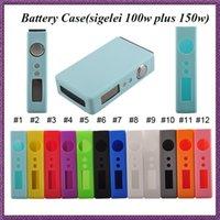 Precio de Mod baterías baratas-El caso barato del sigelei del silicón para sigelei 100w más la mini batería del caso 150w 12 colores cubre la caja colorida de las cajas del silicio 50w Caja Mod