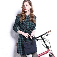 krazy dresses - Wayth Krazy Women s Lapel Scotland Grid Tunic Shirt Dress