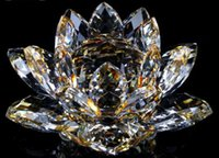Wholesale Top crystal Lotus flower car decoration crystal gifts crafts gift Nice flower size x55mm