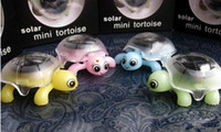 Wholesale and retail Mini Solar Educational Toys Little Tortoise Solar Turtle Toy Green Power for Kids Funny Toys