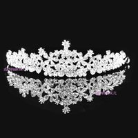 Cheap Bridal Crystal Veil Tiara Crown Headband Hairwear Beauty Pageant Crown Headpiece In Stock Fast Delivery Hot