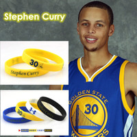 Wholesale 4pcs Stephen Curry Basketball Bracelet Silicone Wristband Men Number Signed by Steph Bangles