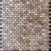 Wholesale natural color mother of pearl shell wall mosaic brick tile for interior decoration
