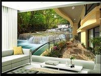 Wholesale papel de parede d Forest Resort large mural wallpaper wall paper Magnolia d wallpaper factory direct2236