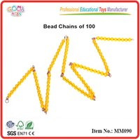 Wholesale Goodkids Classic Teaching Tool Golden Beads Montessori Materials Beads Sensorial Math Toys MM090