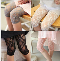 Girl 3T-4T Summer 2016 Summer Children Leggings Girl Lace Leggings Kids Pants Korean Children Half Pants Lace Pants Leggings A8