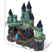 Wholesale Colorful Popular Featured Aquarium Decoration Ancient Castle For fish Tank Resin Ornaments Simulation