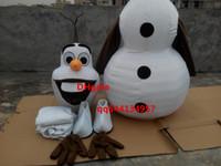 taille adulte de haute qualité Olaf Mascot Costume De Frozen Snowman Olaf Mascot Cartoon Character Costume Taille Vêtements de Noël