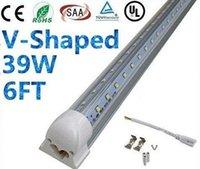 led super bright - Super Bright W V Shaped FT T8 Led Tube Lights Cooler Integrated Lamp m V Warm Natural Cool White Transparent Cover UL Listed