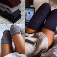 Wholesale 65CM Color Hot Sale Knitting Long Cotton Over The Knee Winter Women Stockings Sexy Women Thigh High