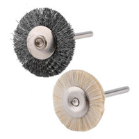 Wholesale 3 Pen Shape Flat Steel Wire Wool Brush for Dremel Die Grinder Rotary Tool Brand New