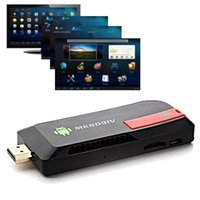 Wholesale 1080P Mini PC TV Media Player Quad Core RK3188T MK809IV G GB XBMC DLNA Wifi Bluetooth Android TV Stick Dongle