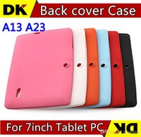 Wholesale Colorful Q88 Silicone Rubber Back Case for inch Allwinner A13 Q88 Android Tablet PC TB1 MQ