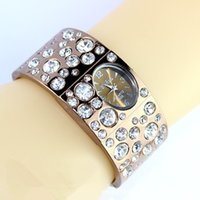 Wholesale Luxury Women Rhinestone Bracelet Watches Fashion Lady Jewelry Wrist watches with Diamond Alloy Watches