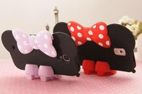 Wholesale 2015 New Cute Cartoon Minnie Mouse Shoes Bow Silicon Case For Samsung Galaxy S3 S4 S5 I9300 I9500 I9600 High Heels Shoes Stand