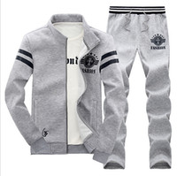 Wholesale Man Sport Sweatshirts Set Mens Sports Hip Hop Tracksuits Korean Slim Thick Baseball Uniform Long sleeved Pants Cotton Sport Suits coat