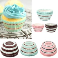 Wholesale NEW Mini stripe Cake Cup Liners Muffin Kitchen Greaseproof Paper Cupcake Cases Baking Decorating Mold Tools