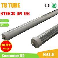 Wholesale US Stock LED Tube Lights ft T8 LED Tubes Cooler Lights W LM Single Pin FA8 AC85 V SMD2835 LED Fluorescent Tube Lamps