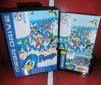 Wholesale Sega games card Pengo with box and manual for Sega MegaDrive Video Game Console bit MD card