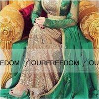 Wholesale Spandex Two Piece Dress - Celebrity dress Yousef aljasmi myriam fares labourjoisie 2016 Lace Long sleeve Green Scoop Neck Sequines Floor-Length Evening Dresses