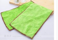 Wholesale Superfine fiber double thickening water dropping cloth non stick oil dishwashing towel dish cloth