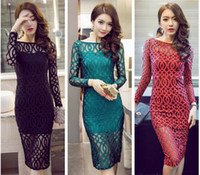 Wholesale China Blue Lace Dress Wholesale - Sexy lace women dresses ,night out club dresses for women Deep v split sexy night dress direct from China Free Shipping