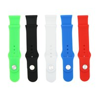Wholesale For Apple Watch iWatch Straps mm mm Watchbands Bracelet Band Silicone Straps Fitness Replacement Watch Band Without Connector