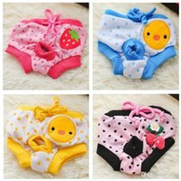 Wholesale New Female Pet Panties Cotton Dog Physiological Pants Small Shorts Pants Bib Diaper ZZ0101 DropShipping