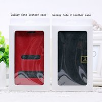 Wholesale Retail Paper Packaging Package Crystal Window Packing Box For Cell phone Leather Wallet Case Back Cover For Samsung S5 Note3 quot iPhone