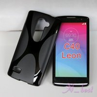 Wholesale For LG Leon C40 C70 X Shape TPU Case Soft Gel Rubber Case Skin Cell Phone Bag