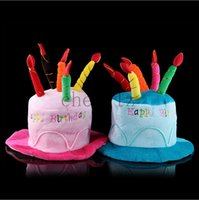 Wholesale New Stylish Design Unisex Adult Birthday Cake Candle Funny Cap Party Performance Prop Cap BB289