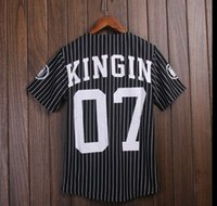 baseball style t shirt - hiphop last kings jerseys Last Kings baseball t shirt tyga jerseys men women hip hop style tees tops rap rock t shirts new